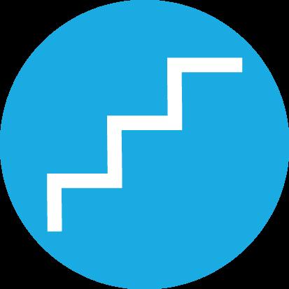 Escalier de chantier provisoire Marche par marche