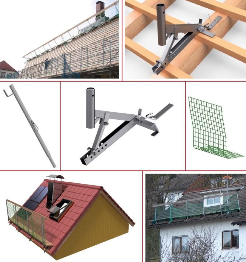 Console de protection de toiture réglable