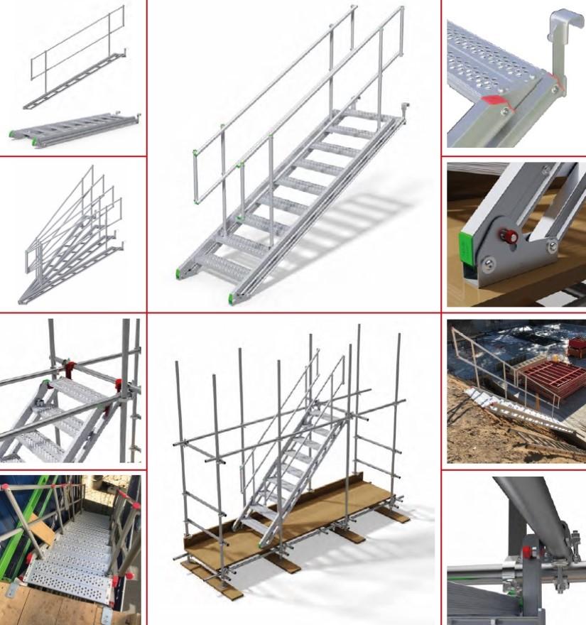 Escalier de chantier – Ranger