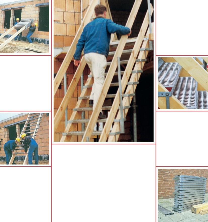 Escalier de chantier en accordéon