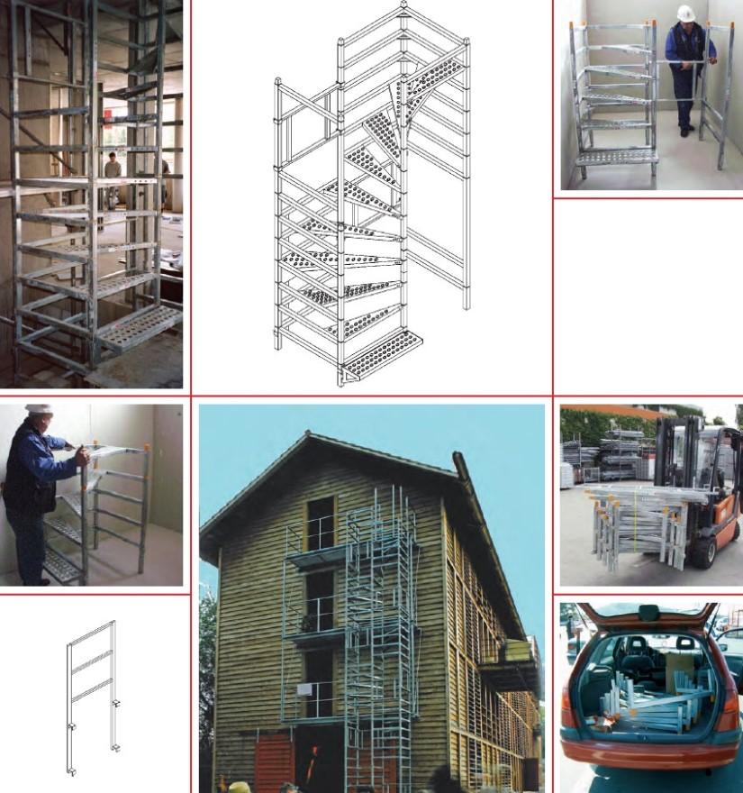 Escalier de chantier provisoire – RBT