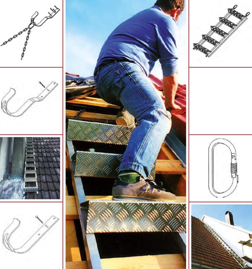 Escalier de toiture en alu