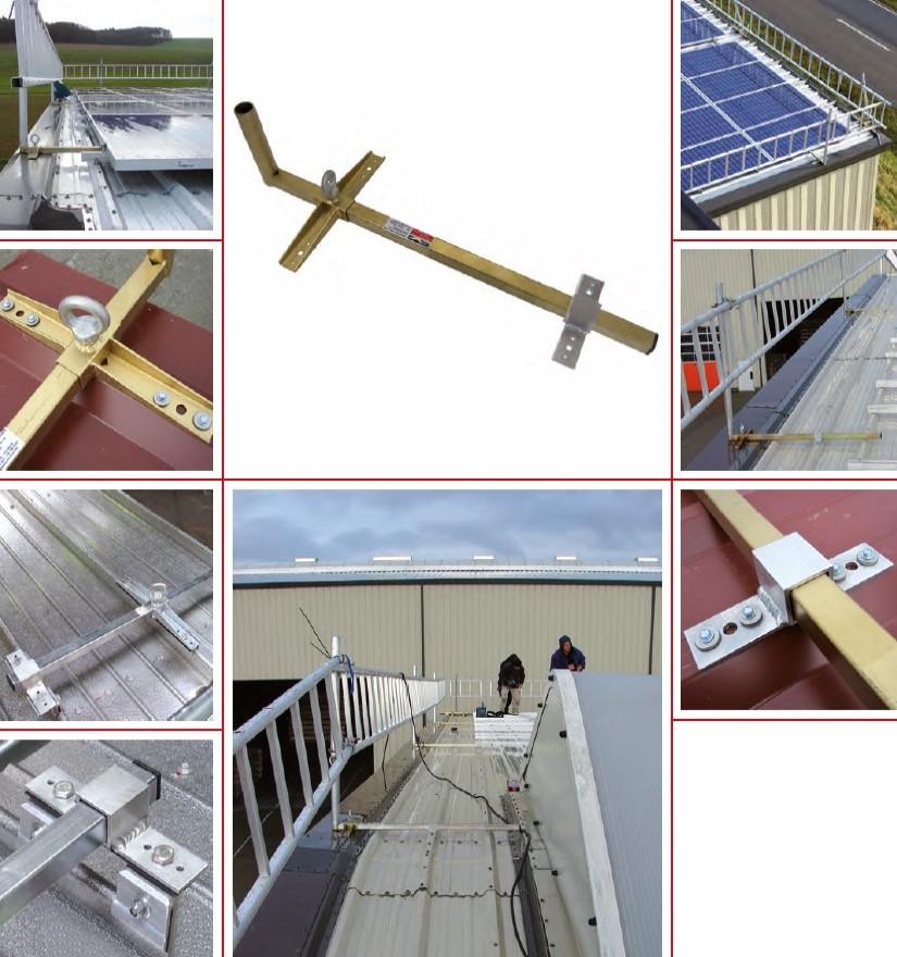 Garde-corps pour toit en tôle